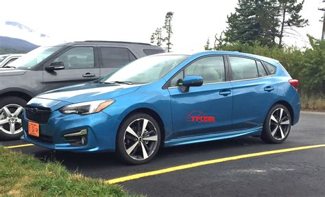 2017 subaru impreza hatchback red spied in the wild 2017 subaru impreza hatchback the