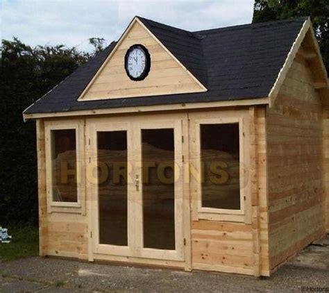 4m x 4m mini clockhouse log cabin