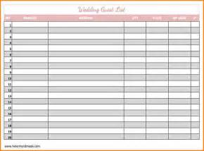 Excel Guest List Template 8 Wedding Guest List Template Excel Wedding Spreadsheet