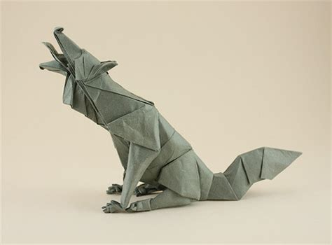 How To Make A Paper Wolf - origami wolf if anybody sees this can you