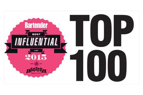 Top 100 Bars by Bartender Magazine Top 100 Most Influential List 2015