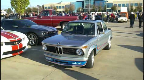 bmw 2002 restomod bmw 2002 turbo silver restomod dallas cars and coffee