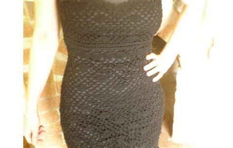 Handmade Crochet Clothing - black crochet dress finished cossalina