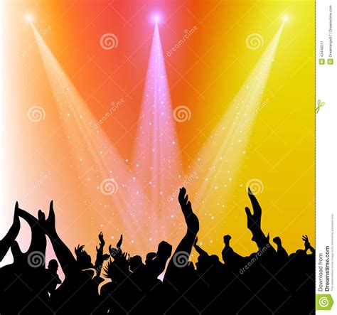 musical fans org free fans cheering stock illustration image 43448011