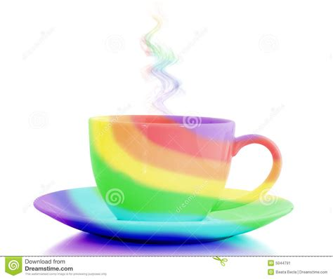 Rainbow Cup rainbow cup stock image image of drink rainbow dishware