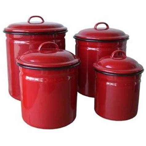 red kitchen canisters 25 best ideas about red canisters on pinterest red