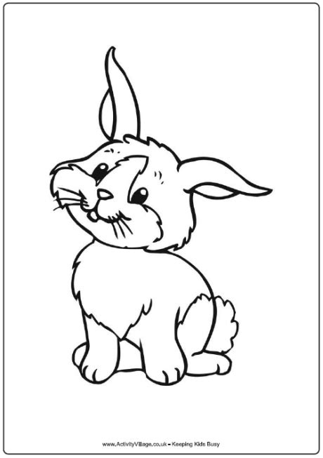 christmas bunny coloring pages cartoon rabbit coloring page