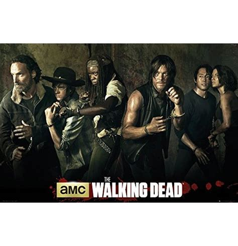 Poster Serial Tv The Walking Dead Cast 2 40x60cm the walking dead poster 255242 for only 163 3 74 at merchandisingplaza uk