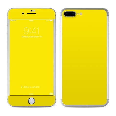 iphone yellow apple iphone 7 plus skin solid state yellow by solid colors decalgirl
