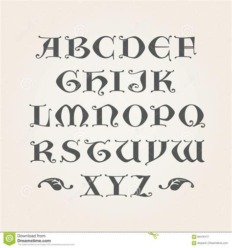 lettere gotiche alfabeto iniziali gotiche alfabeto decorativo illustrazione