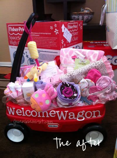 Baby Shower Welcome Wagon by Quot Welcome Wagon Quot For New Baby Hint Hint For Anyone Who
