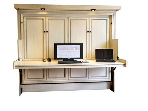 desk wall unit combinations hide away desk bed wilding wallbeds pertaining to wall