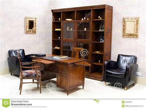 suite of premium office furniture stock photography