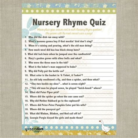 Nursery Rhymes Baby Shower by The World S Catalog Of Ideas