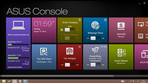 park console asus windows 7 free software