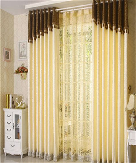 window cloth curtains modern brief light yellow leaves curtains cloth window