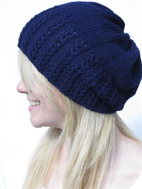 cable knit slouchy hat pattern faux cable slouchy hat knitting pattern pdf knitting