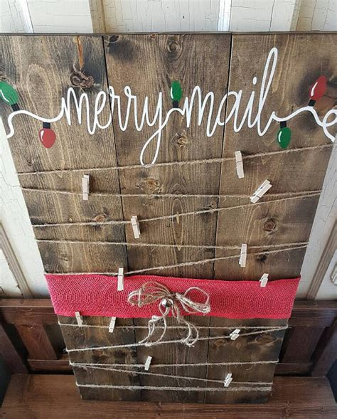 decorating with cards card holder decor merry mail