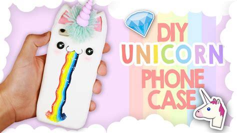 diy kawaii unicorn phone tutorial cover unicorno