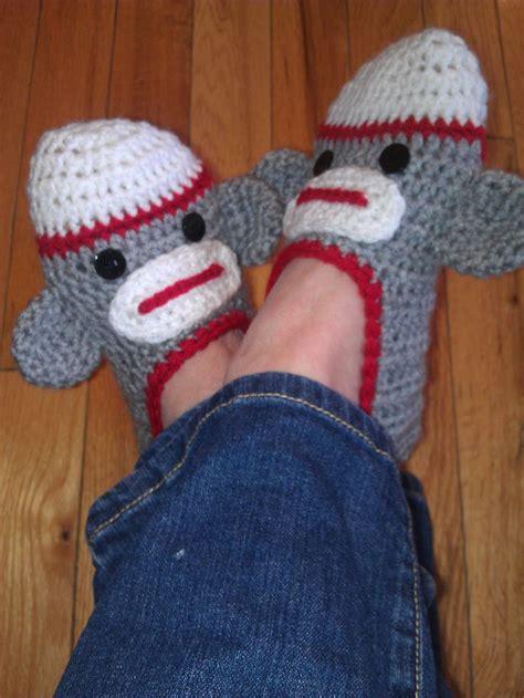 crochet monkey slippers crochet sock monkey slippers crochet sock monkey
