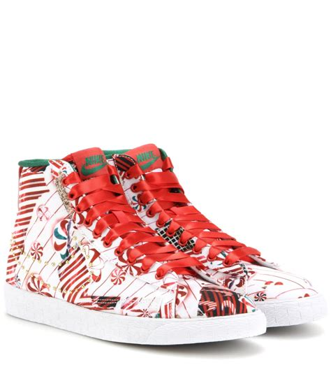 nike blazer mid qs embellished printed sneakers in multicolor white lyst