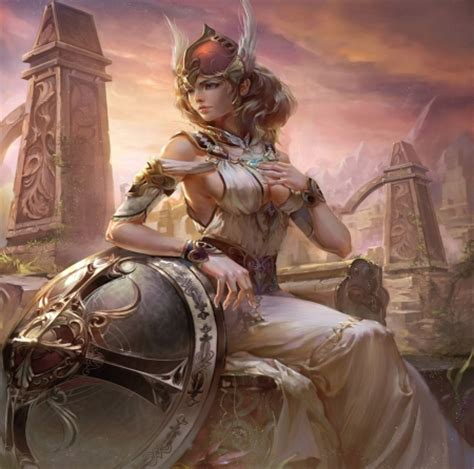 wallpaper gold lady valkyrie fantasy abstract background wallpapers on