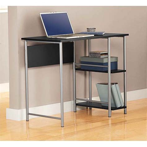 new mainstays basic student computer desk black silver ebay