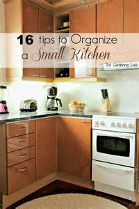 organize small kitchen the gardening cook