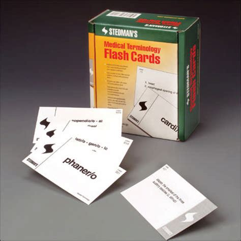 how to make terminology flash cards stedmans terminology flash cards search