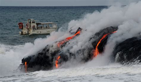 hawaii lava boat tours volcano lava boat tours lava ocean tourslava ocean tours
