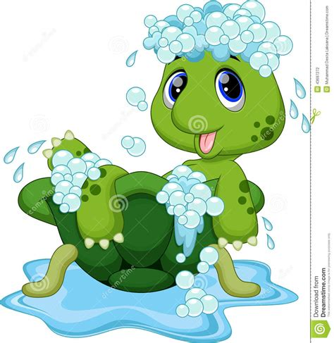 turtle in the bathtub song cute turtle cartoon stock illustration image of bathing 43697272