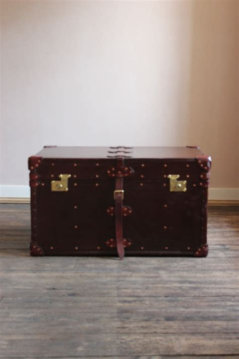 bespoke leather trunk coffee table leather trunks