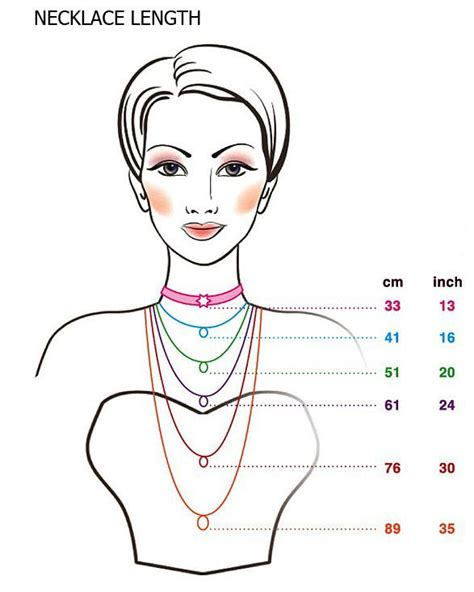 necklace lengths cm inch to