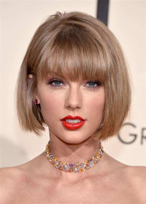 taylor swift new haircut trendy bob haircuts from celebrities for 2016 2017