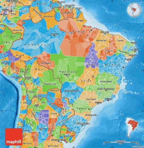 brazil political map political map of brazil