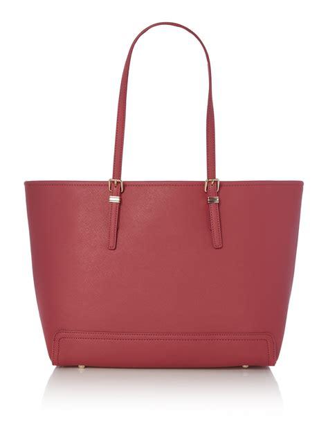 hilfiger large tote bag hilfiger honey pink large tote bag in pink lyst