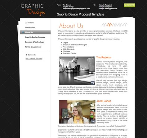 graphic design proposal layout business proposal templates the proposable blog