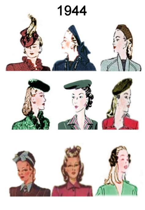 how to make a 1940 style hat 1944 image of c20th fashion history hair and hat styles
