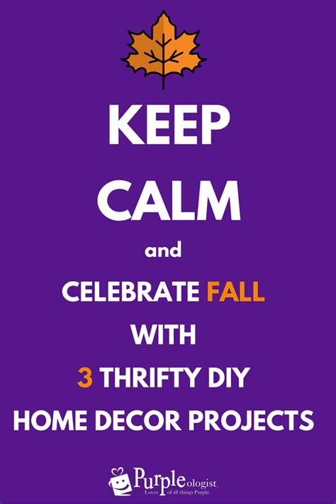 Thrifty Home Design Blogs Celebrate Fall With 3 Thrifty Diy Home Decor Projects