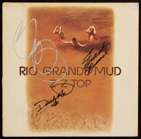 lot detail zz top billy gibbons signed quot grande mud zz top album zz top grande mud zz top