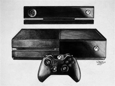 Drawing Xbox by Xbox One Drawing By Lethalchris On Deviantart
