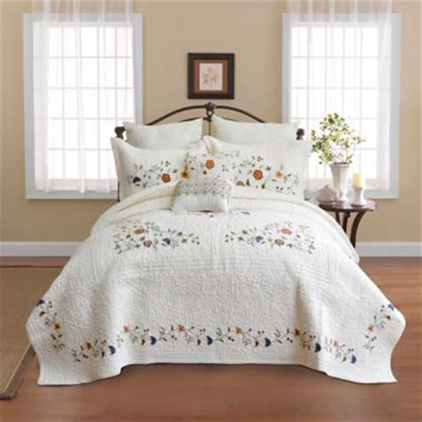 Quilted Bedspreads At Bed Bath And Beyond by Buy Embroidered Quilted Bedspread From Bed Bath Beyond