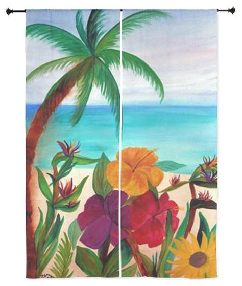 palm tree sheer curtains palm tree tropical sheer curtains tropical floral beach