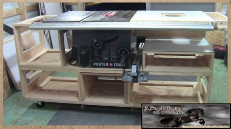 table saw portable base building a tablesaw base part 1