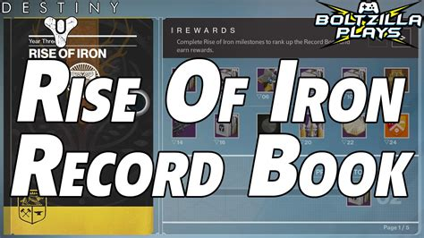iron in my books destiny rise of iron record book