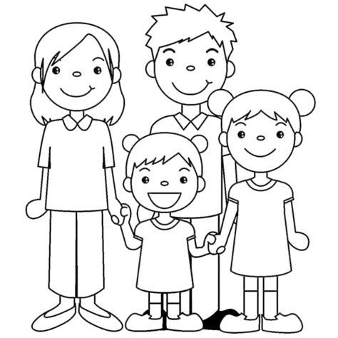 disegni bambini disegno di famiglia unita da colorare per bambini