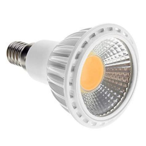 spot led dimmable e14 5w cob 450 480lm 2700 3500k warm white light