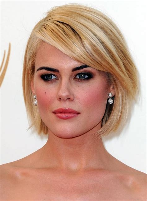 side pictures of bob haircuts short blonde bob hairstyle with side swept bangs for 2014