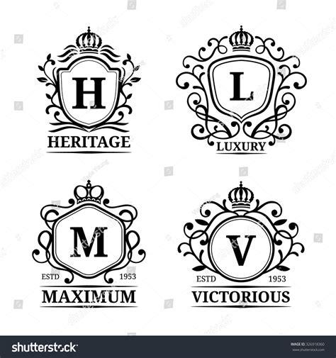 letter template design vector vector monogram logo templates luxury letters stock vector
