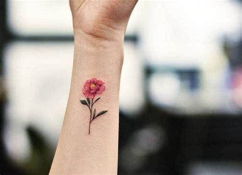 peony wrist tattoo pink peony flower on the wrist